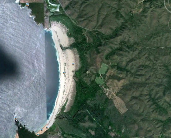 Playa Teopa en Google Earth